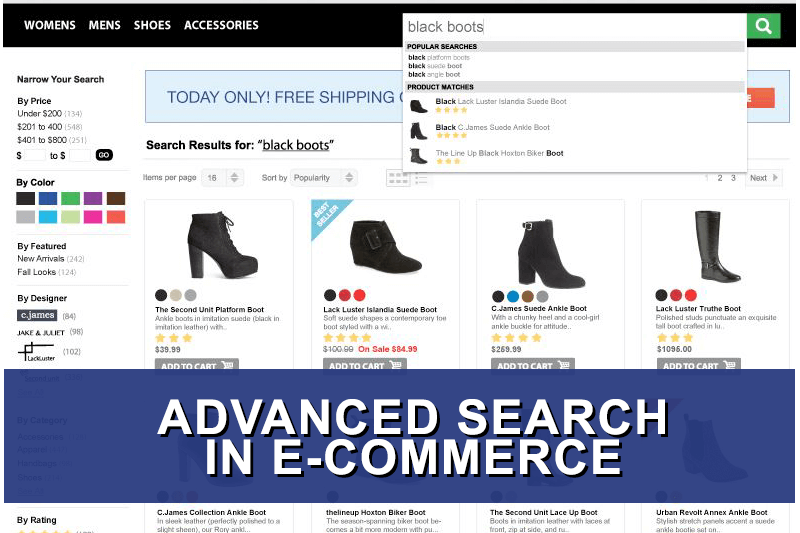 The importance of advanced search modules in e-commerce