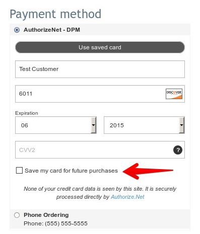 Best X-Cart module (January 2016) : Authorize net DPM